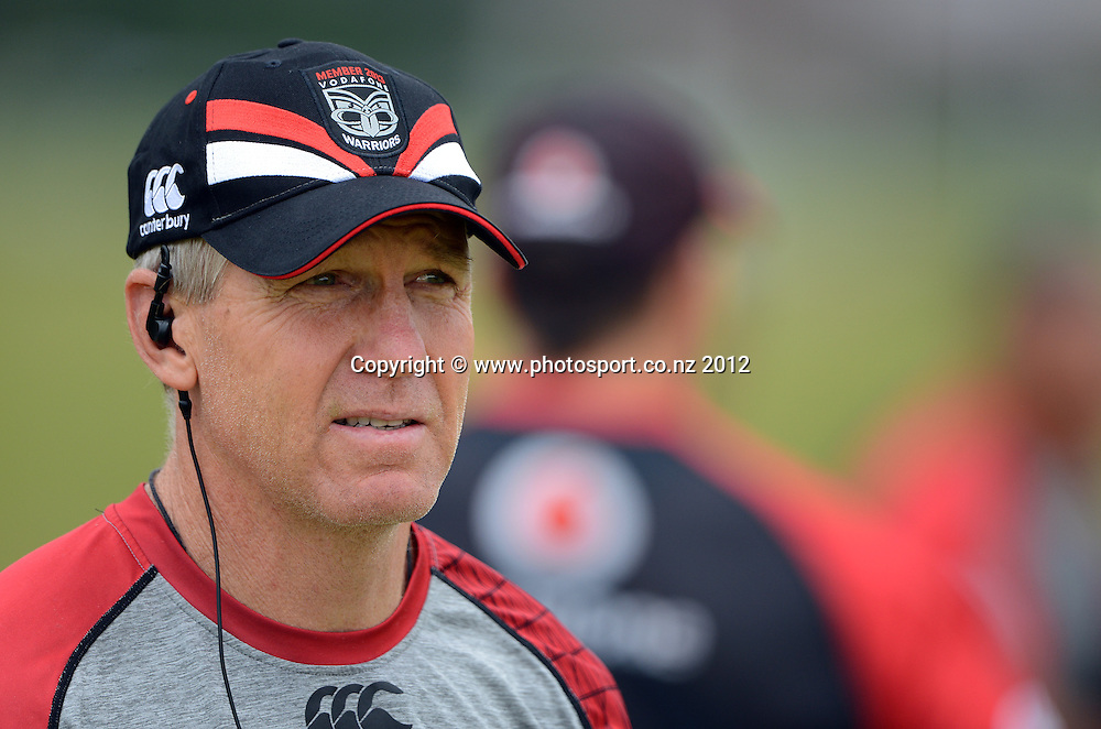Coach Matthew Elliott. NRL Rugby League. Vodafone Warriors pre season training session at One Tree Hill, Auckland, New Zealand on Thursday 20 December 2012. Photo: Andrew Cornaga/photosport.co.nz