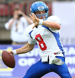 27.07.2010, Wetzlar Stadion, Wetzlar, GER, Football EM 2010, Team France vs Team Great Britain, im Bild Fred Boyle, (Team Great Britain, QB, #8) ,  EXPA Pictures © 2010, PhotoCredit: EXPA/ T. Haumer