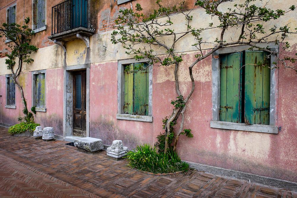 VENICE, ITALY - CIRCA MAY 2015: Typical facade in Torcello, Venice.