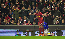 28.01.2014, Anfield, Liverpool, ENG, Premier League, FC Liverpool vs FC Everton, 23. Runde, im Bild Liverpool's Martin Skrtel, action against Everton // during the English Premier League 23th round match between Liverpool FC and Everton FC at Anfield in Liverpool, Great Britain on 2014/01/29. EXPA Pictures &copy; 2014, PhotoCredit: EXPA/ Propagandaphoto/ David Rawcliffe<br /> <br /> *****ATTENTION - OUT of ENG, GBR*****
