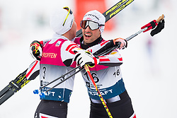 March 10, 2018 - Oslo, NORWAY - 180310 Mario Seidl and Lukas Greiderer of Austria after the Nordic Combined 10 km Gundersen on March 10, 2018 in Oslo..Photo: Jon Olav Nesvold / BILDBYRN / kod JE / 160213 (Credit Image: © Jon Olav Nesvold/Bildbyran via ZUMA Press)