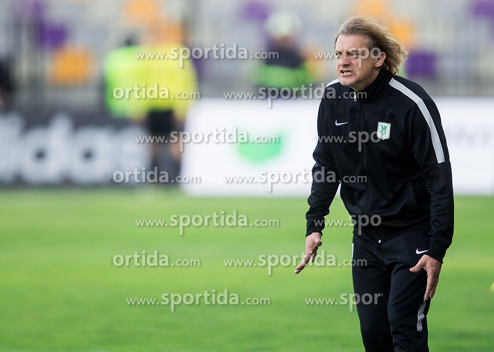 Safet Hadzic, head coach of NK Olimpija Ljubljana during 2nd Leg football match between NK Maribor and NK Olimpija Ljubljana in Semifinal of Slovenian Football Cup 2016/17, on April 12, 2017 in Stadium Ljudski vrt, Maribor, Slovenia. Photo by Vid Ponikvar / Sportida
