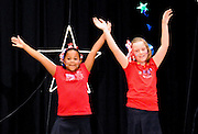 "10/23/09  -  Atlanta, Ga :  Students at Sagamore Hills Elementary School performers Jordon Kupersmith, Riana Brevitt, Lily Massey, Vicky Guillen, Autumn McAllister, Vivian Newton, Mackenzie Fields and Reagan Conn from ""Party in the U.S.A."" showcase their skits during the 2009 talent show featuring dance, music, comedy and other performances at the annual Showcase of Stars on Friday, October 23, 2009. Director Nancy Briggs, and assistant directors Joe Scivicque and Teresa Libbey helped produce more than 30 acts.    David Tulis         dtulis@gmail.com    ©David Tulis 2009"