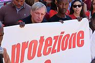 20180707 - Don Ciotti manifestazione  Magliette Rosse Roma