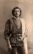 Johnson Forbes-Robertson (1853-1937) English actor-manager. Knighted in 1913. Here as Romeo in the tragedy  'Romeo and Juliet' by William Shakespeare, a role he played opposite the Juliet of Mrs Patrick Campbell. Photogravure.