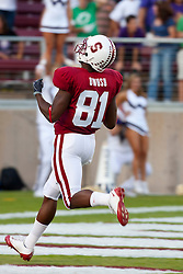 September 26, 2009; Stanford, CA, USA; Stanford Cardinal wide receiver Chris Owusu (81) returns the opening kickoff for a touchdown against the Washington Huskies during the first quarter at Stanford Stadium. Stanford defeated Washington 34-14. Mandatory Credit: Jason O. Watson-US PRESSWIRE