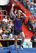 Shawn Barber (CAN)  reacts after placing third in the pole vault at 18-6½ (5.65m) during the IAAF Continental Cup 2018 at Mestky Stadion in Ostrava, Czech Republic, Sunday, Sept. 9, 2018. (Jiro Mochizuki/Image of Sport)