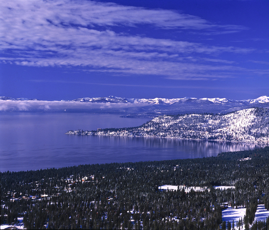 Lake Tahoe Scenic Winter Overlook