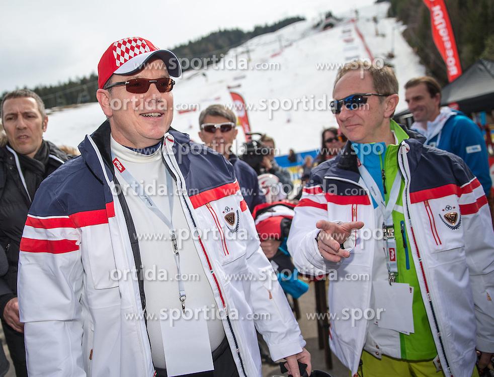 22.03.2014, Sportalm, Seefeld, AUT, 8. World Star Ski Event, Star Team for Children, im Bild Prinz Albert II von Monaco, Mauro Serra (Star Team President) // during the Star Team for Children of 8th World Star Ski Event at the Sportalm in Seefeld, Austria on 2014/03/22. EXPA Pictures © 2014, PhotoCredit: EXPA/ Johann Groder