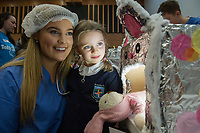18/01/2018 Cliona McMenamin Letterkenny Donegal   4thyear Med Student  with Maggie Jean  Clabby from Oughterard  . Students get used to dealing with Kids and Kids get a Hospital experience with a difference. Photo:Andrew Downes, XPOSURE