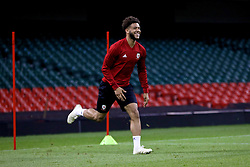 CARDIFF, WALES - Wednesday, October 10, 2018: Wales' Tyler Roberts during a training session at the Principality Stadium ahead of the International Friendly match between Wales and Spain. (Pic by David Rawcliffe/Propaganda)