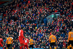 LIVERPOOL, ENGLAND - Saturday, January 28, 2017: Liverpool's supporters being to leave early as they see their side lose 2-1 to Wolverhampton Wanderers during the FA Cup 4th Round match at Anfield. (Pic by David Rawcliffe/Propaganda)