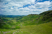 Wrynose Pass in the Dudden Valley part of the Lake District National Park, Cumbria, UK