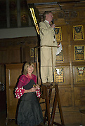 CAROLE STONE AND HER HUSBAND, CAROLE STONE PARTY.Middle Temple Hall. Middle Temple Lane. London EC4. -DO NOT ARCHIVE-© Copyright Photograph by Dafydd Jones. 248 Clapham Rd. London SW9 0PZ. Tel 0207 820 0771. www.dafjones.com.