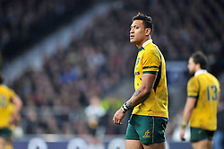 Israel Folau of Australia looks on - Photo mandatory by-line: Patrick Khachfe/JMP - Mobile: 07966 386802 29/11/2014 - SPORT - RUGBY UNION - London - Twickenham Stadium - England v Australia - QBE Internationals
