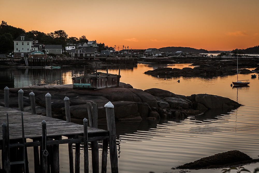 A fishing village in Stonington, Maine. Home of the sweetest lobster