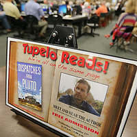 The flyer for Tupelo Reads welcomes guests to Wednesday's Tupelo Reads event with author Richard Grant.
