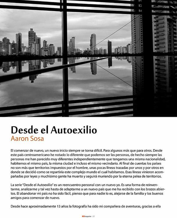 """Serie """"Desde el Autoéxilio"""" publicada en la revista Argentina Bex Magazine - Dossier Panamá, Agosto 2014"""