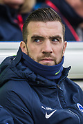 Shane Duffy (Brighton) on the bench ahead of the Premier League match between Brighton and Hove Albion and Chelsea at the American Express Community Stadium, Brighton and Hove, England on 1 January 2020.