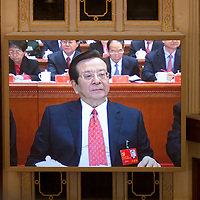 BEIJING, NOV 8, 2012 : Zeng Qinghong,  a former vice- president of the People's Republic of China until 2008, attends the 18th Party Congress of the CPC ( Communist Party Of China ).