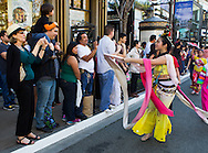 Performers dance during a parade to celebrate the upcoming Spring Festival or Chinese New Year at The Americana at Brand in Glendale, California, Sunday, February 15, 2015. <br /> (Photo by Ringo Chiu/PHOTOFORMULA.com)