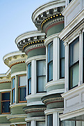 San Francisco, California, July 18, 2008-Row of Victorian homes on Telegraph Hill.