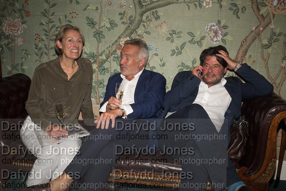 SARAH GIBBONS; STEPHEN BAYLEY; STUART GIBBONS,  ( sock entrepeneur ) The LAPADA Art & Antiques Fair - private view, Berkeley Sq. London. 12  September 2016
