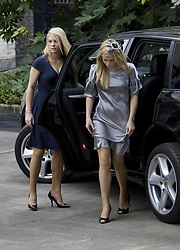 Lady Katya Amelia Spencer and Lady Kitty Eleanor Spencer arrive for the Service of Thanksgiving for the life of Diana, Princess of Wales, at the Guards' Chapel, London.