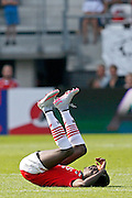 ALKMAAR - 30-08-2015, AZ - Roda JC, AFAS Stadion, 0-1, teleurstelling, AZ speler Derrick Luckassen.