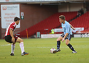 Dundee's Simon Ferry runs at Sheffield United's Connor Dimaio - Sheffield United v Dundee, pre season friendly at Bramall Lane<br /> <br />  - &copy; David Young - www.davidyoungphoto.co.uk - email: davidyoungphoto@gmail.com