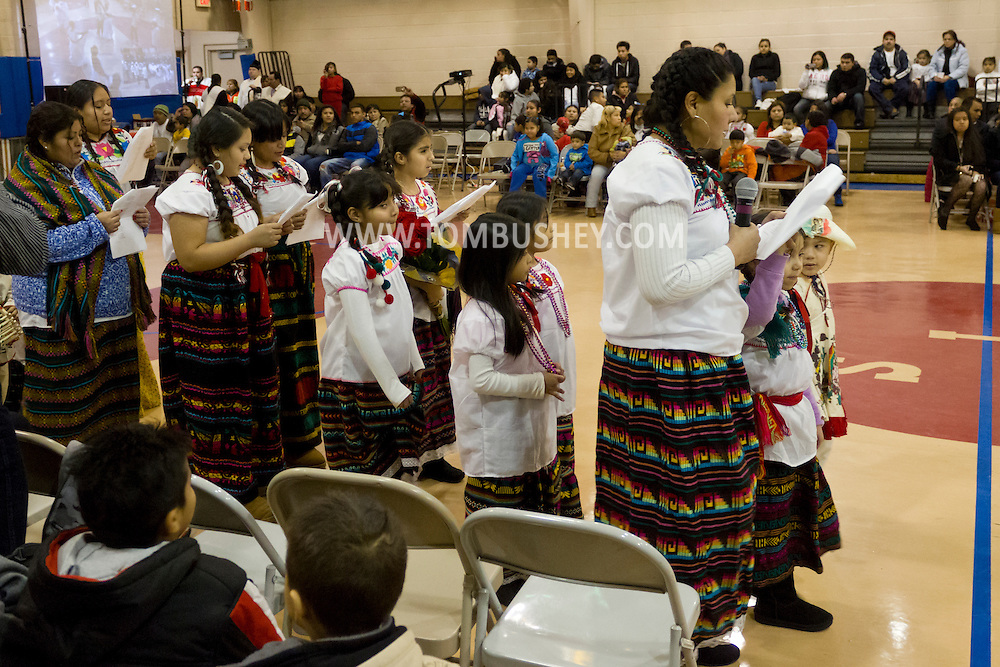 Middletown, New York - Members of St. Joseph's Church celebrate the Festival of Nuestra Senora de Guadalupe in the church gymnasium on Saturday, Dec. 14, 2013.