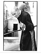 Monsignor Alfred Gilbey. London. 1991. © Copyright Photograph by Dafydd Jones 66 Stockwell Park Rd. London SW9 0DA Tel 020 7733 0108 www.dafjones.com