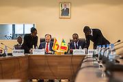 Minister of Foreign Affairs, Dakar, 02/December/2013.<br /> <br /> The SECIPI and the Minister of Foreign Affairs of Senegal sign in Dakar the Country Partnership Framework.<br /> <br /> Jesus Manuel Gracia Aldaz, Secrétaire d'Etat Coopération Espagnole / Secretary of State for the Spanish Cooperation / Secretario de Estado de Cooperación (SECIPI) <br /> <br /> Mankeur Ndiaye, Ministre Affaires Etrangéres et des Sénégalais de l'Extérieur / The Minister for Foreign Affairs / Ministro de Asuntos Exteriores de Senegal.