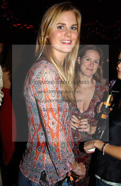 MISS ALICE FERGUSON half sister of Sarah, Duchess of York at a party hosted by Tatler magazine to celebrate the publication of the 2004 Little Black Book held at Tramp, 38 Jermyn Street, London SW1 on 10th November 2004.<br />