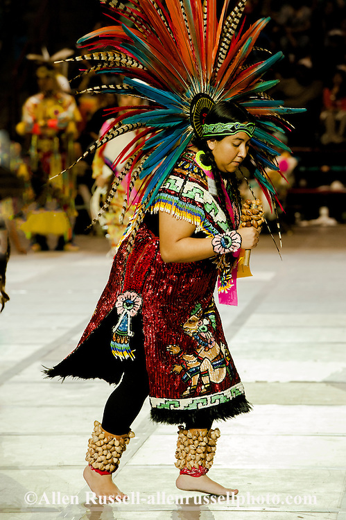 Gathering of Nations Pow Wow, Aztec Tribe, Ladies Traditional Dancer, Albuquerque, New Mexico