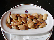 Salted almonds at the Hotel Alhambra Palace, Granada, Spain.