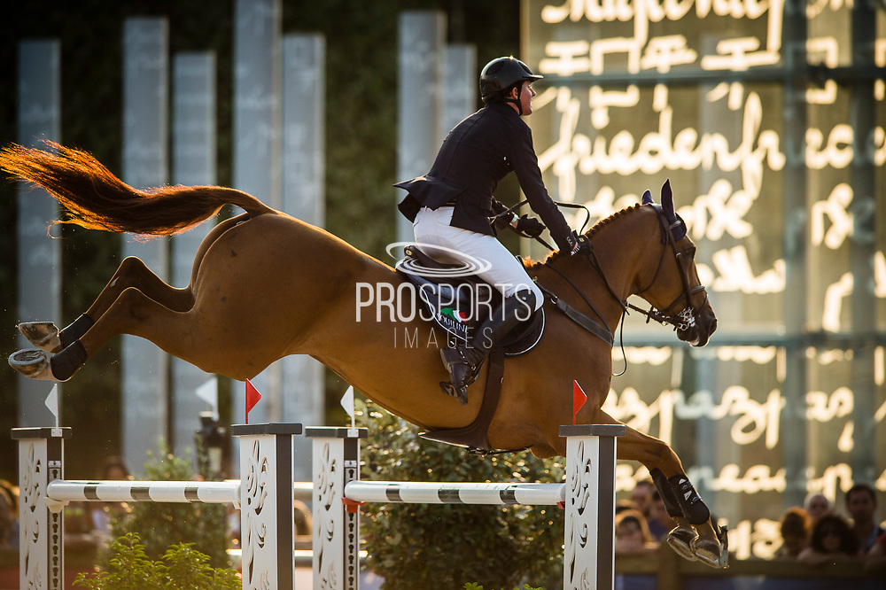 Paris, France : Ben Maher riding Explosion W during the Longines Paris Eiffel Jumping 2018, on July 5th to 7th, 2018 at the Champ de Mars in Paris, France - Photo Christophe Bricot / ProSportsImages / DPPI