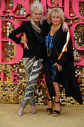 © Licensed to London News Pictures. 29/06/2016. Guests including  JENNIFER SAUNDERS, JOANNA LUMLEY, JAMNE HORRICKS, NADIA SAWALHA, KATE MOSS, EMMA BUNTON, DAISY LOWE, CARA DELEVINGE, KYLIE MINOGUE, ALISHA DIXON, JERRY HALL, JOURDAN DUNN,  LILY COLE, SUKI WATERHOUSE and LARA STONE attend the ABSOLUTELY FABULOUS world film premiere.<br />