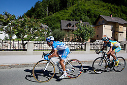 POZZOVIVO Domenico of Colnago and BRAJKOVIC Janez of Astana during 3rd Stage (219 km) at 19th Tour de Slovenie 2012, on June 16, 2012, in Skofja Loka, Slovenia. (Photo by Matic Klansek Velej / Sportida.com)