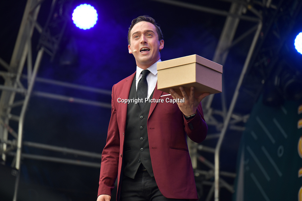 The Illusionists performs at West End Live 2019 - Day 2 in Trafalgar Square, on 23 June 2019, London, UK.