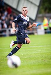 Falkirk's Kyle Turnbull.<br /> Dumbarton 1 v 1 Falkirk, Scottish Championship 10/8/2013.<br /> &copy;Michael Schofield.