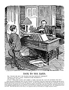 """Back to the Land. Boy. """"Please, Sir, may I be trained for the Merchant Service?"""" President of the Board of Trade. """"Parents in the workhouse?"""" Boy (cheerfully). """"No, Sir."""" P.B.T. """"Well, run along and commit a crime, or else we can't do anything for you."""" [Apart from those training ships which are either industrial  or reformatory schools and a single ship for workhouse boys the Government does nothing by way of education for our Merchant Service. All other training ships, such as the Mercury, of which Mr. C.B. Fry has recently taken over the control, are dependent for support on voluntary contributions. Yet more than half a century has passed since a Royal Commission recommended the encouragement of training-ships, and more than a year since a Committee appointed by the Board of Trade suggested capitation grants by the State for the instruction of boys wishing to join the Merchant Navy; but nothing seems to have been done. Meanwhile this Service, from which we are supposed to draw our Naval Reserve, is largely manned by aliens.]"""