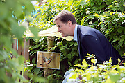 © Licensed to London News Pictures. 24/04/2014. Colchester, UK. Nick Clegg explores a nature classroom. Deputy Prime Minister Nick Clegg visits Hazelmere Infant School and Nannas Day Nursery in Colchester on Thursday 24 April, to talk to teachers and parents about free childcare for two-year-olds, free school meals and the pupil premium.. Photo credit : Stephen Simpson/LNP