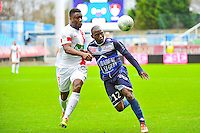 Henri BIENVENU NTSAMA / Ismael TRAORE - 10.01.2014 - Troyes / Brest - 19e journee Ligue 2<br /> Photo : Dave Winter / Icon Sport