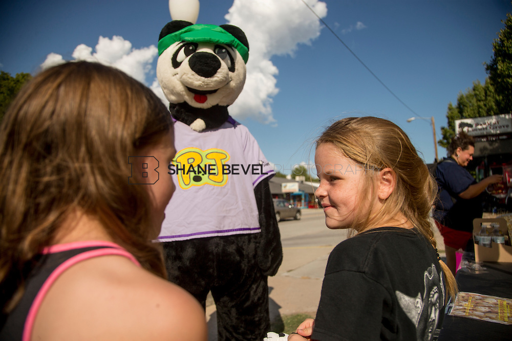 9/24/16 4:20:17 PM --  PJ Panda appears at a car show in Locust Grove for Children's Miracle Network. <br /> <br /> Photo by Shane Bevel