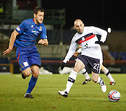 Inverness Caledonian Thistle's Gary Warren  and Dundee's Mark Stewart  - Inverness Caledonian Thistle v Dundee, Clydesdale Bank Scottish Premier League at Tulloch Caledonian Stadium, Inverness.. - © David Young - www.davidyoungphoto.co.uk - email: davidyoungphoto@gmail.com