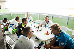 Sandi Novak, Francek Gorazd Tirsek, Ales Kosmac, Damjan Pavlin and Primoz Cernilec of Slovenia in the Paralympic Village 3 days ahead of the Rio 2016 Summer Paralympics Games on September 4, 2016 in Rio de Janeiro, Brazil. Photo by Vid Ponikvar / Sportida