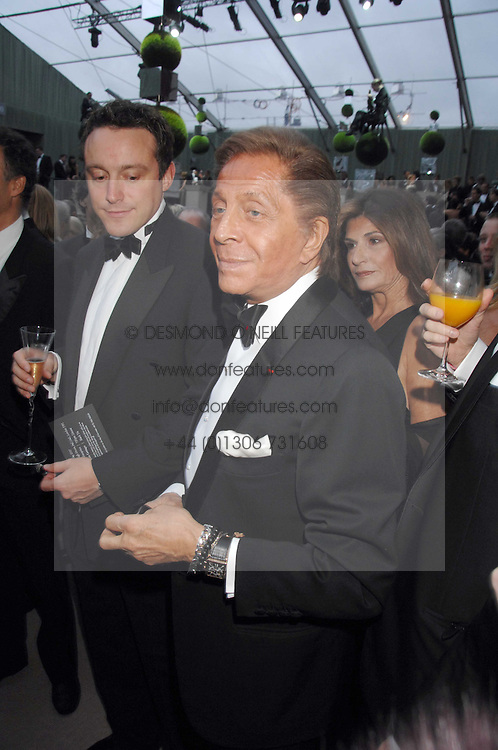VALENTINO at the Ark 2007 charity gala at Marlborough House, Pall Mall, London SW1 on 11th May 2007.<br />
