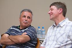 Miran Subic and Gorazd Kuznik of NK Triglav Kranj at PrvaLiga draw before new football season 2011/2012 in Slovenia, on June 23, 2011, in Hotel Kokra, Brdo pri Kranju, Slovenia. (Photo by Vid Ponikvar / Sportida)