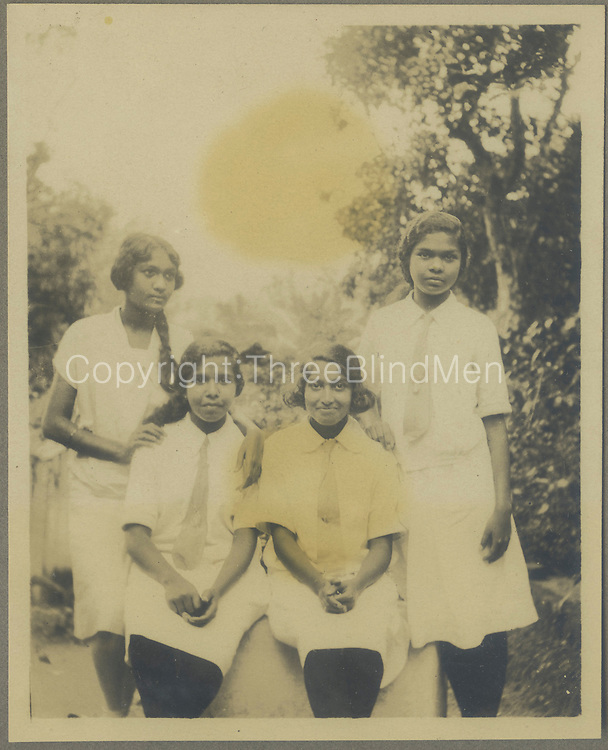 Doreen Pullenayagam on the far left with friends.